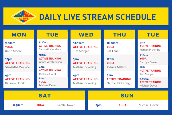 daily live stream schedule