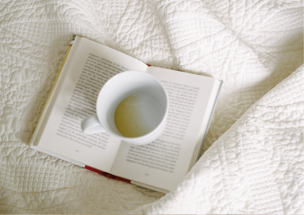 Coffee and a book in bed